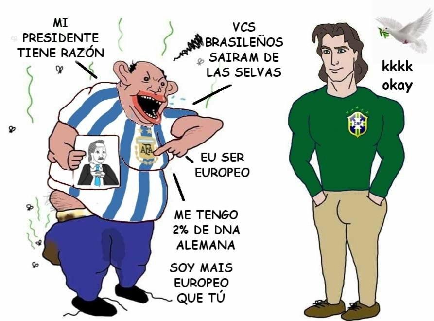 2022 o brasil invadirá os boludo - meme