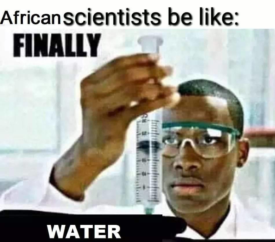African Scientist - meme