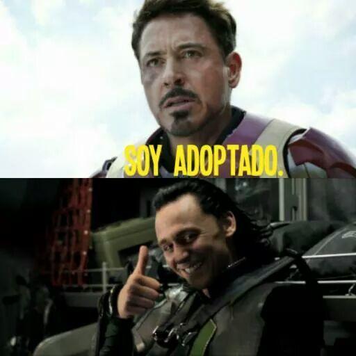 Las ventajas de ser adoptado - meme