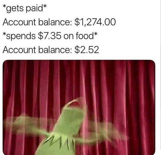 Account balance - meme