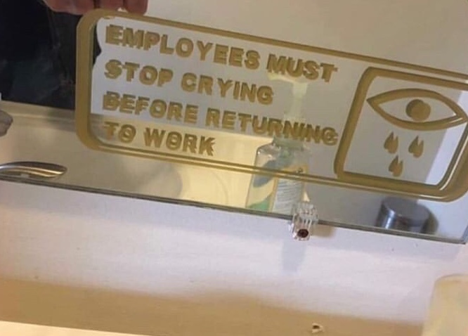 stop crying before returning - meme