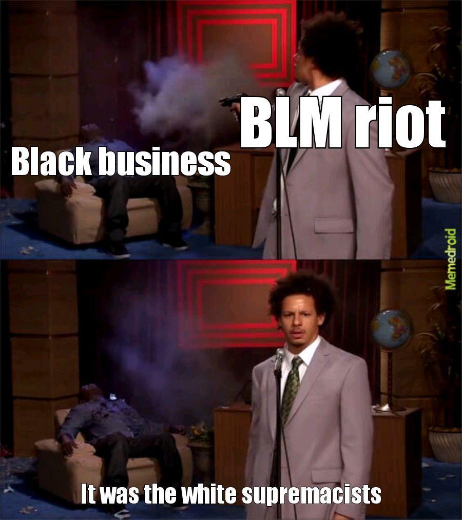 BLM riots - meme