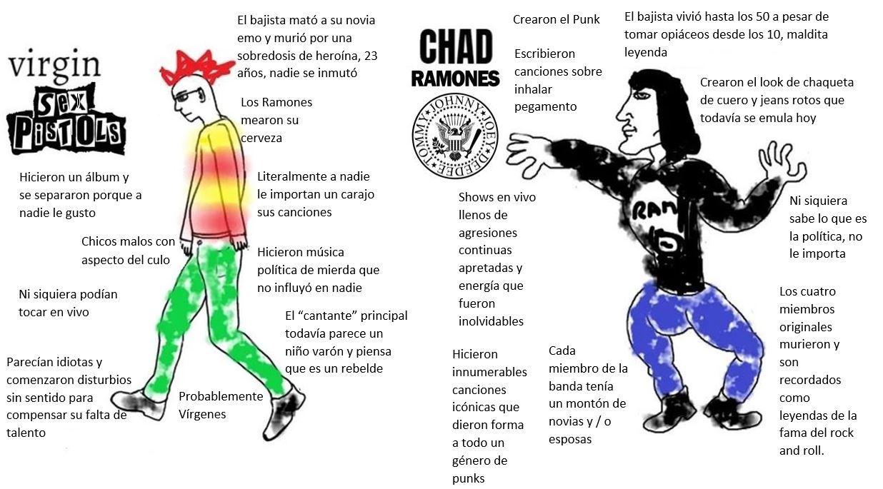 Sex Pistols vs Ramones - meme
