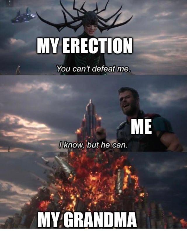 My Erection, my Grandma - meme