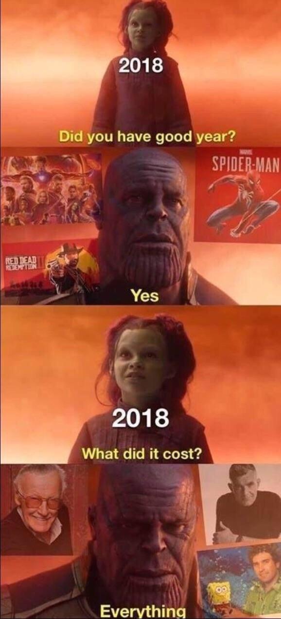 Rip 2018 - meme