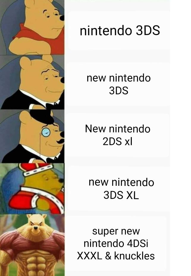 Nintendo y sus portátiles xd a mi gustan - meme