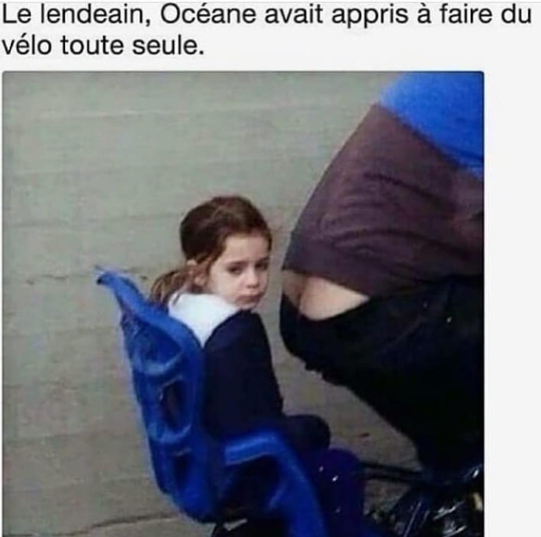 Y'avait Fernand y'avait Huguette, a bicycleeeeeeette - meme