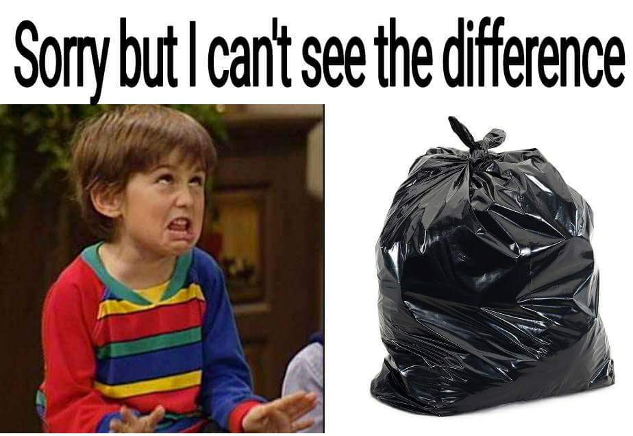 """""""Desculpe mas não consigo ver diferenças"""" - meme"""