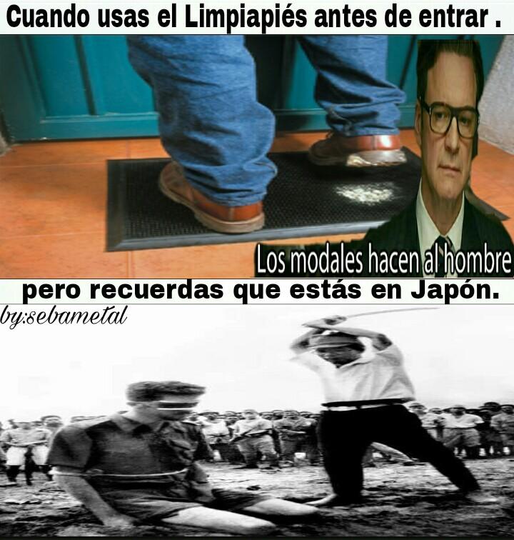 Limpiapies = limpiarse los pies . - meme