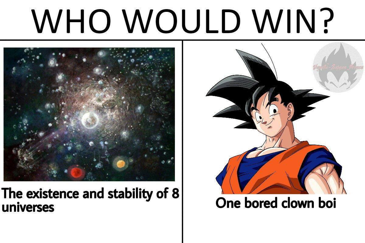 A clown by any other name is still Kakarot - meme