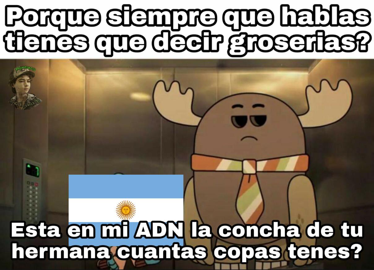 Cosas de argentinos - meme