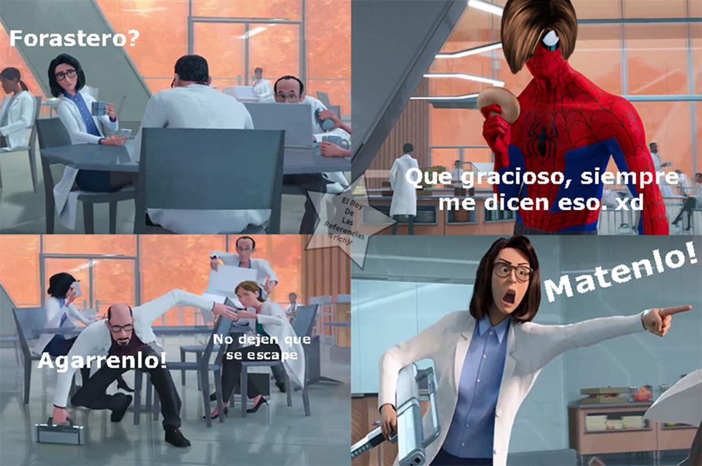 Matenlo! (Resident Evil 4 & Spiderman un nuevo universo) - meme