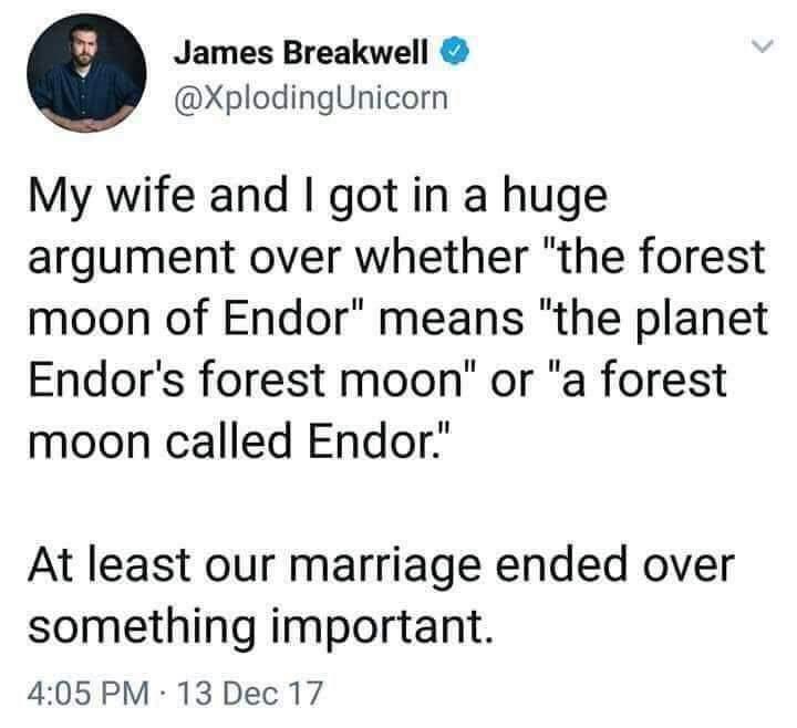 Endor argument - meme