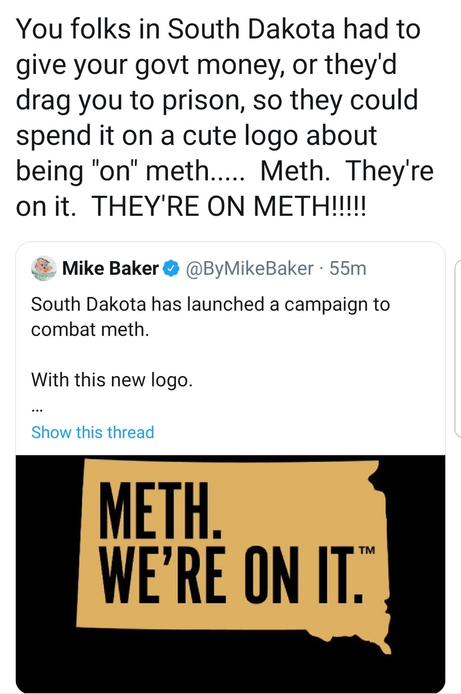 They're on METH - meme
