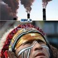 """les esplico, los antiguos indigenas se comunicaban con humo y pues el indio a l ver esto se quedo como quien decir """"que verga"""""""