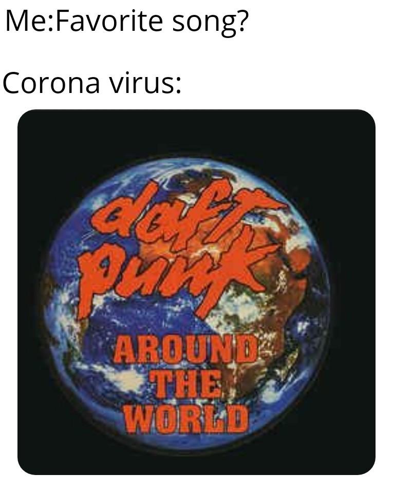 Corona a favorite songe - meme