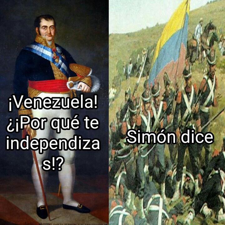 Simon dice independencia - meme