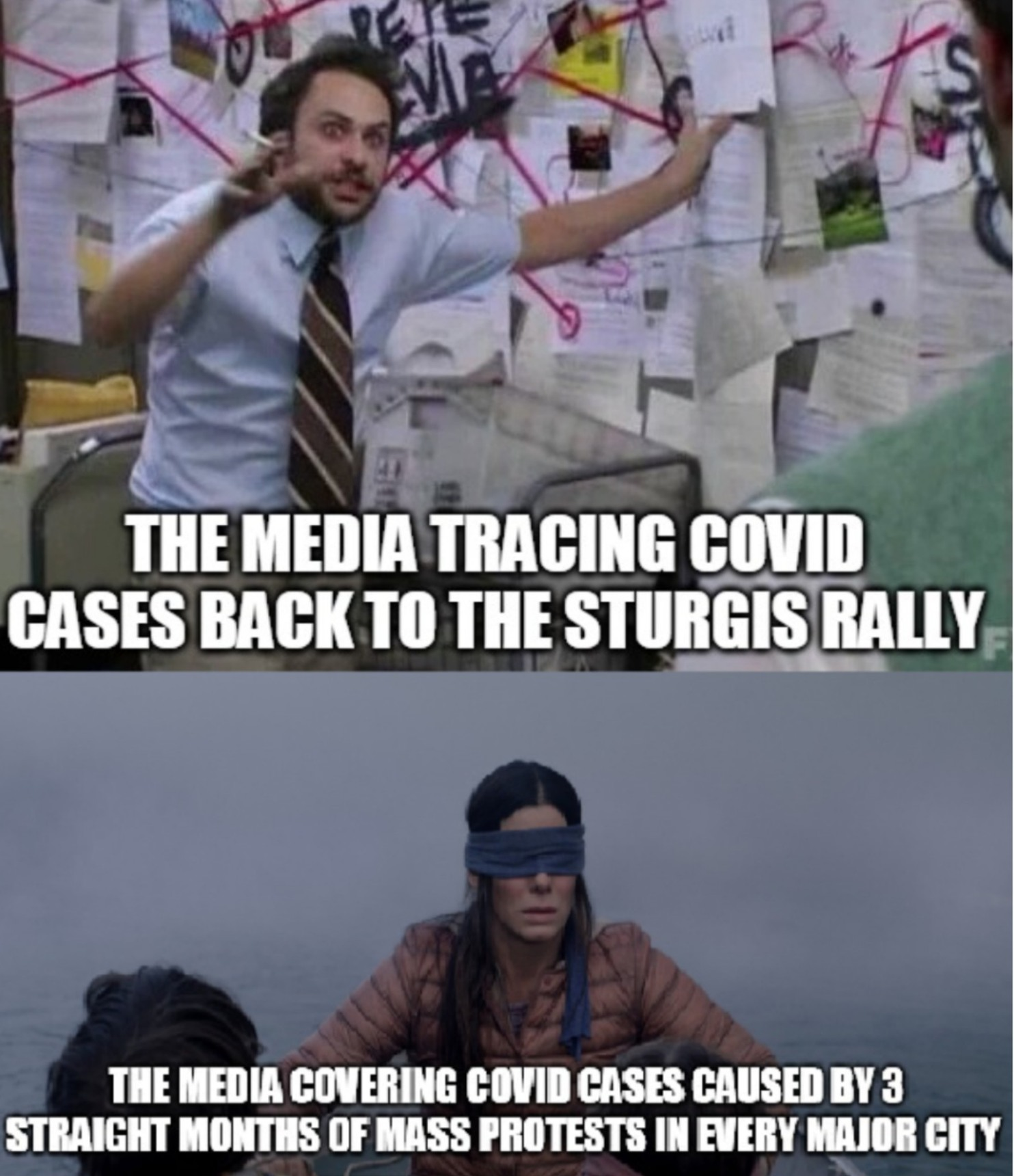 At least the media is unbiased - meme
