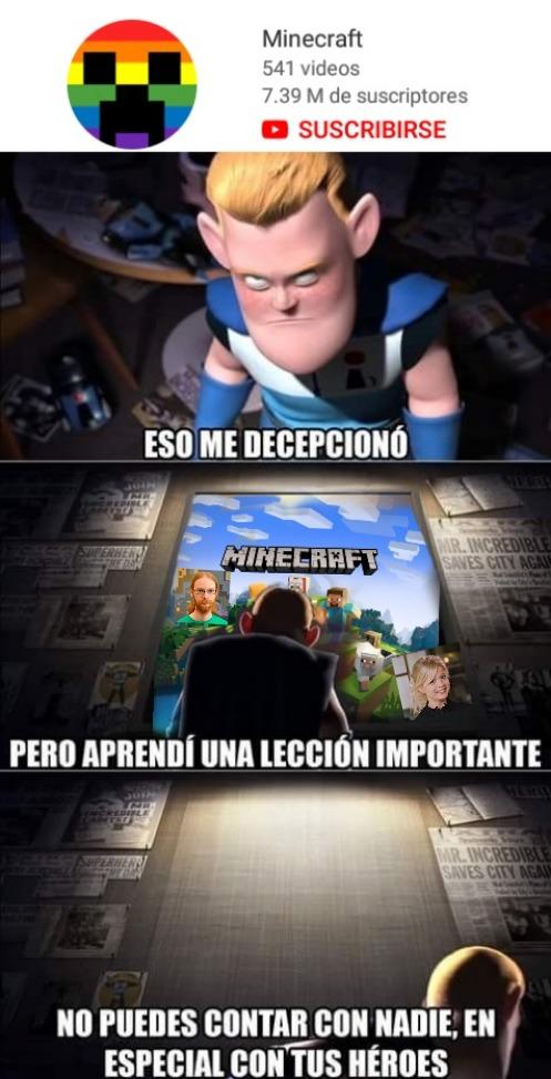 Minecraft gay :( - meme