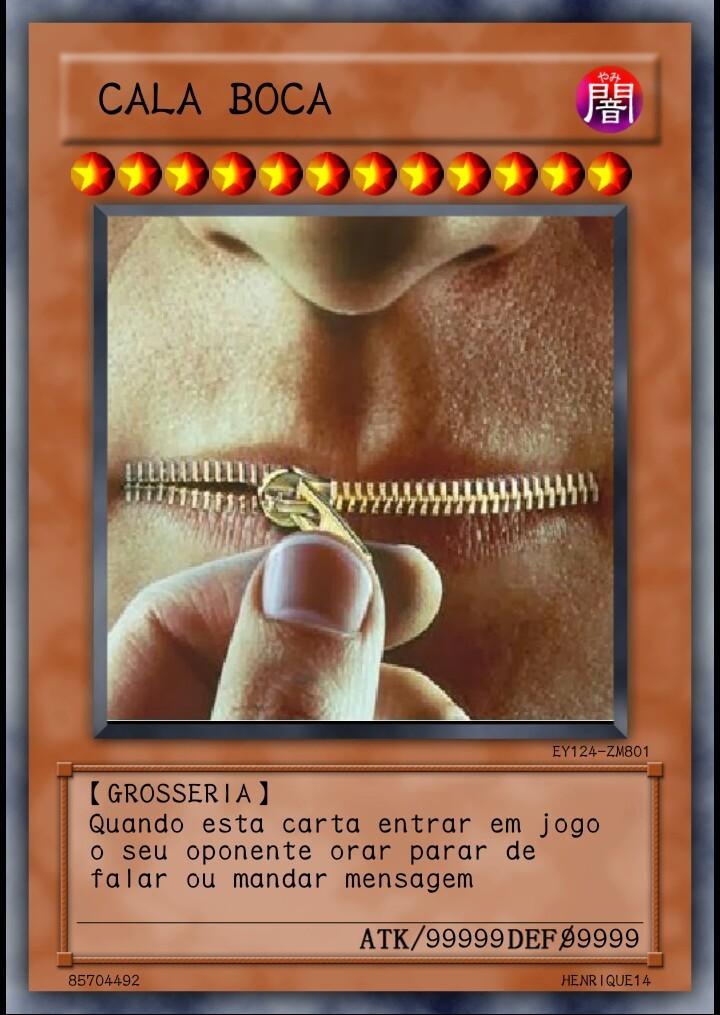 Carta de yu-gi pra vocês - meme