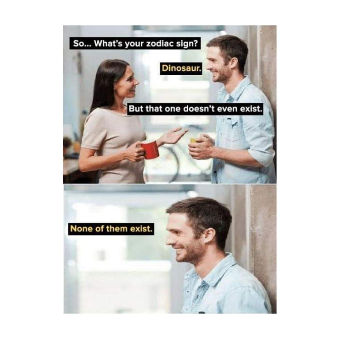 DINO sign - meme