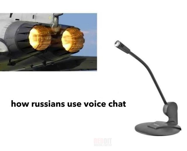 How Russians use voice chat - meme