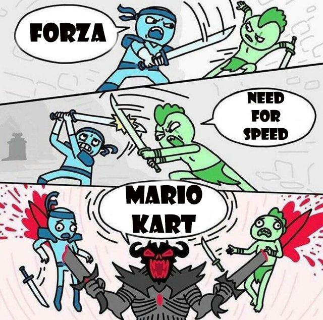 melhor game de corrida! - meme