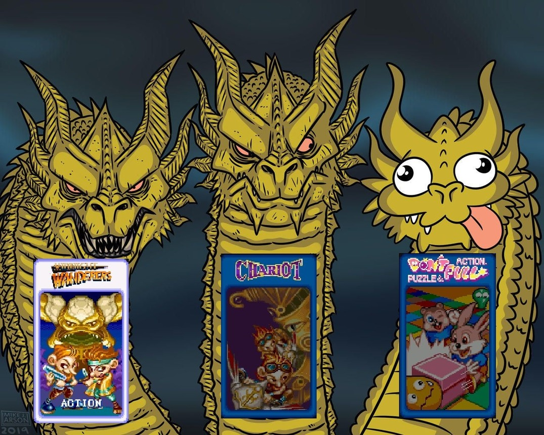 CONTEXTO: Los tres venían en un mismo arcade llamado Three Wonders - meme