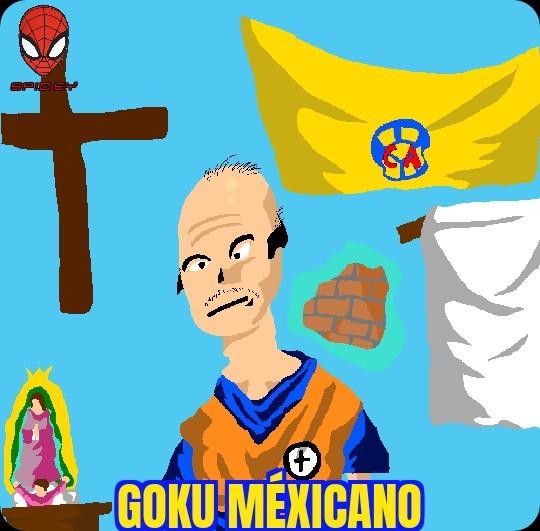 Goku Méxicano. muy blanco, - meme