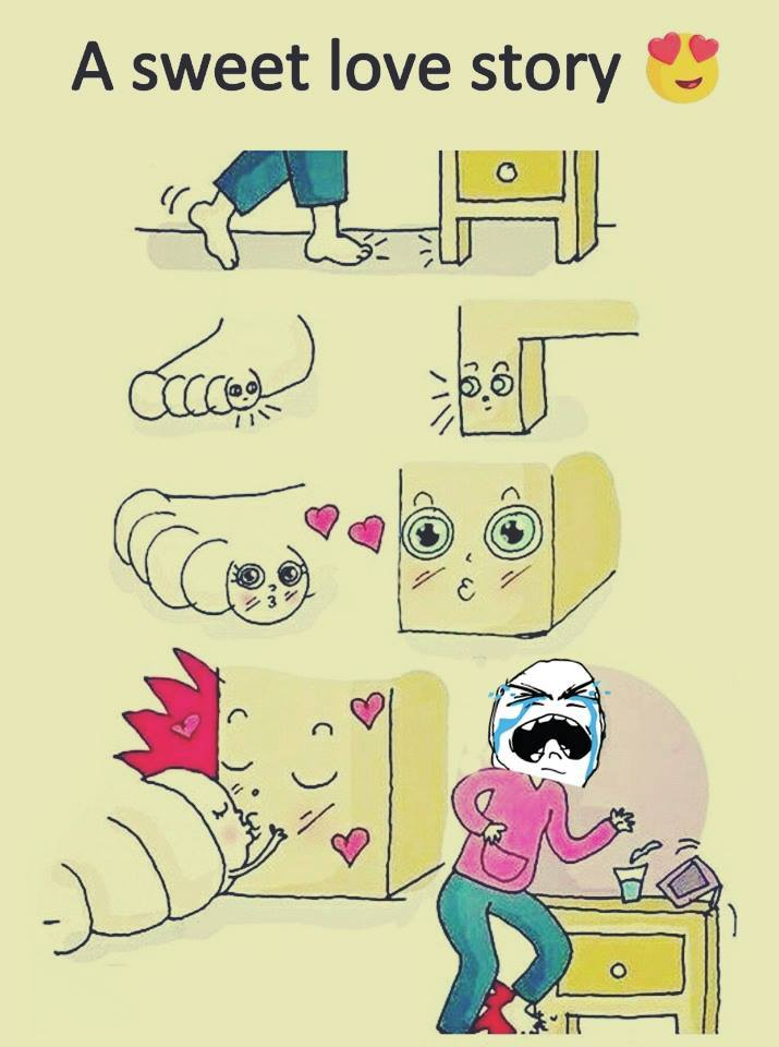 Love is painful (<_>)