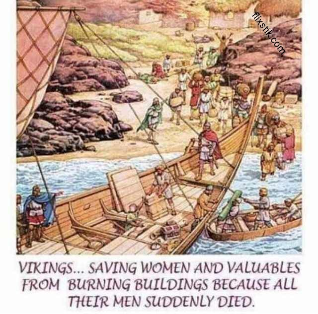Thank God the Vikings can to the rescue - meme