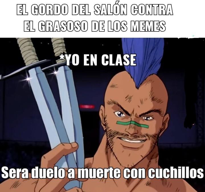 Duelo a muerte con cuchillos - meme