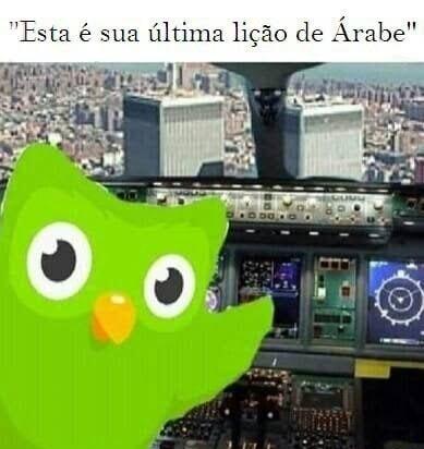 Última aula de árabe - meme