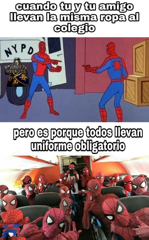 El uniforme escolar - meme