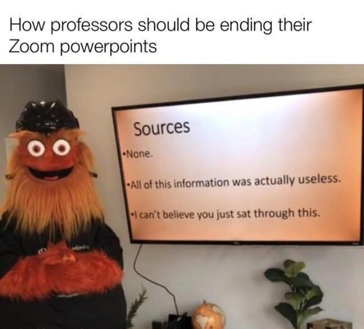 Zoom online sucks - meme