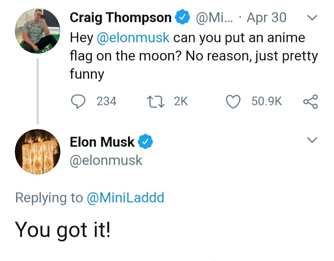 Yall boutta see anime tiddies on the moon - meme