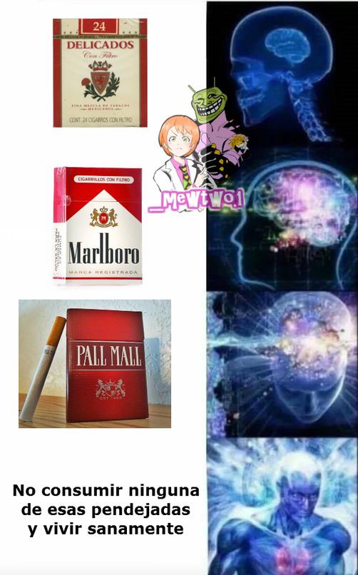 No consuman cigarrillos - meme