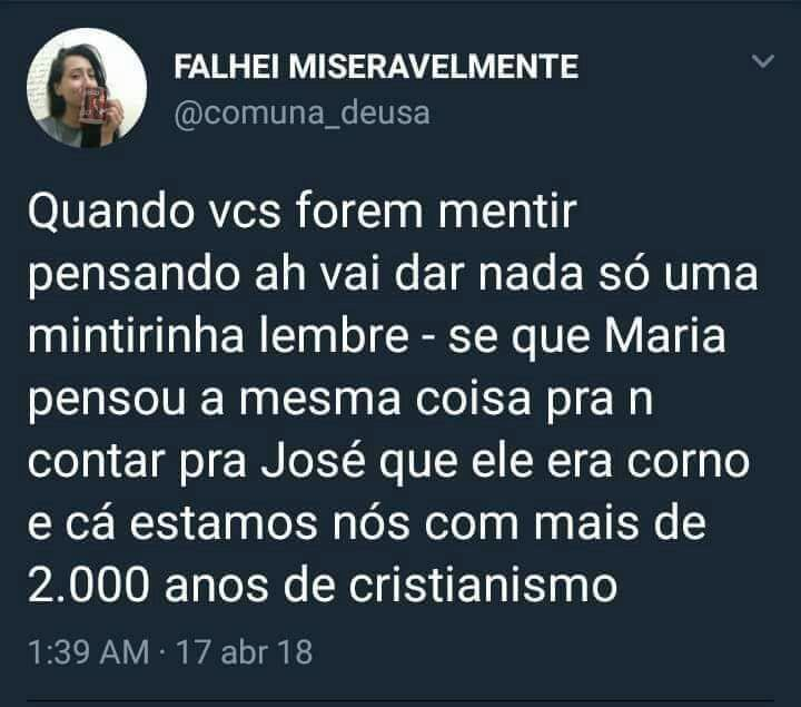 Mentirinha.....2018 D.C - meme