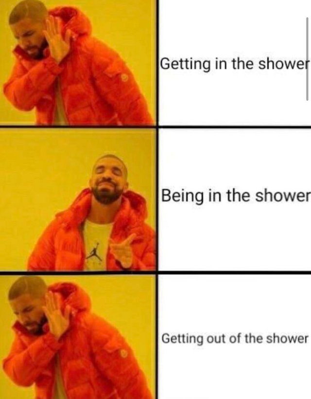Shower feelings - meme