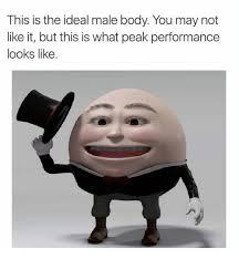 Ideal male body - meme