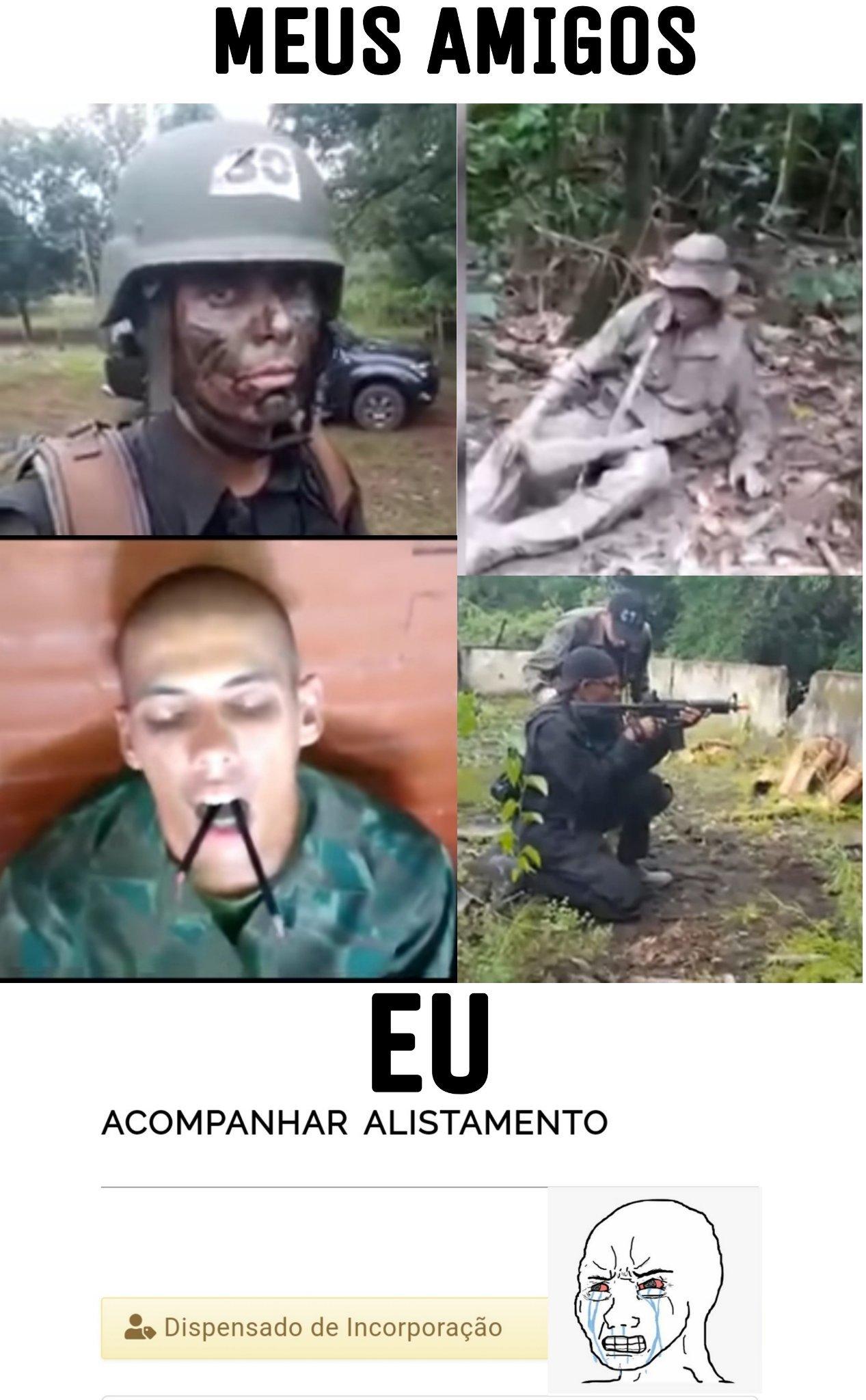 Vacilo, exército, vacilo - meme