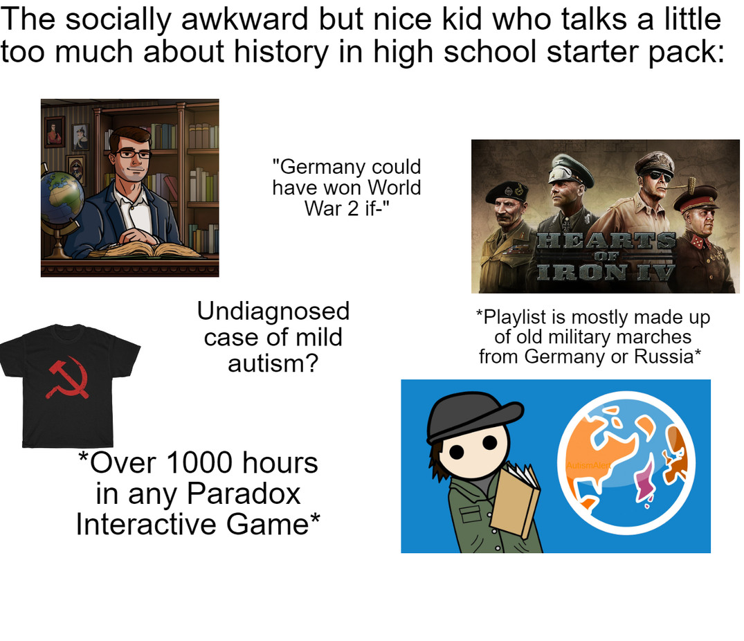 """I tick all these categories except the communism shirt and the """"undiagnosed case"""" - meme"""
