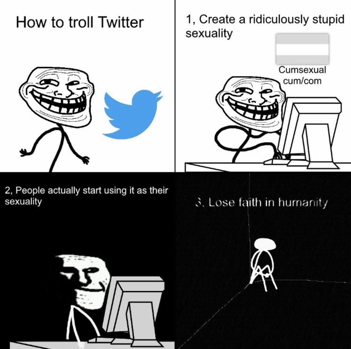 Twitter é basicamente a APAE com acesso a internet - meme
