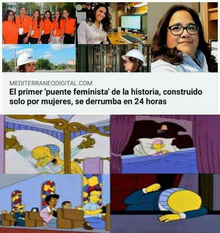 Puente feminista. - meme