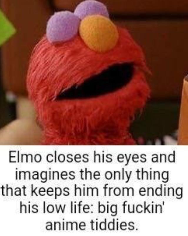 Elmo watches hentai - meme
