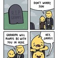 All your dead relatives are in your stomach