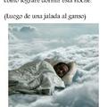 Una paja y a dormir