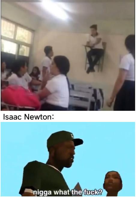 Clase de física - meme