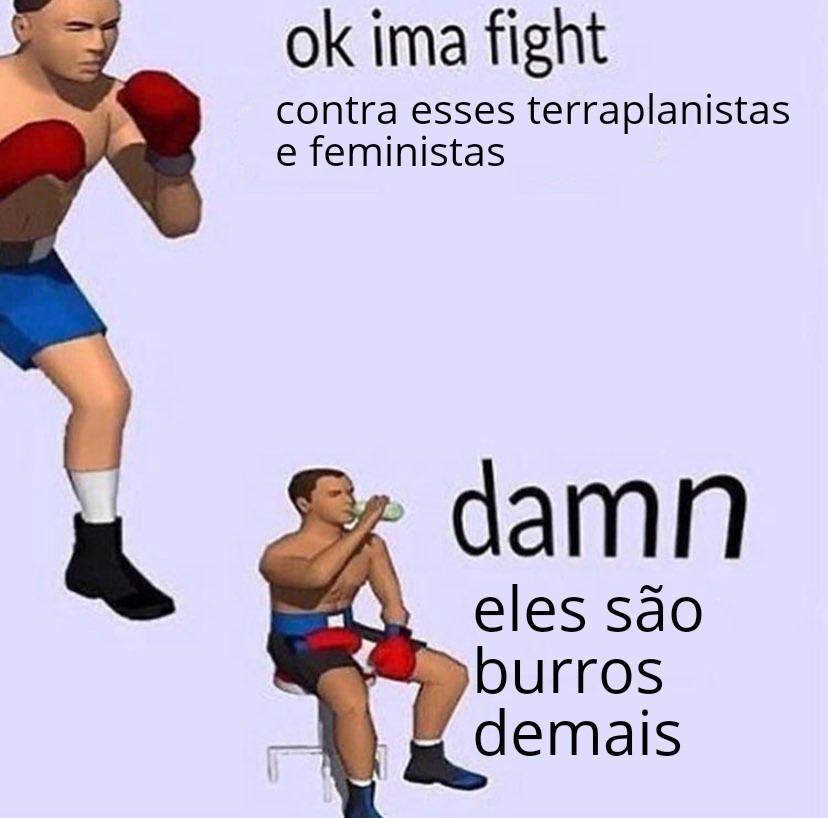 """Ok vamos lutar / merda"" - meme"