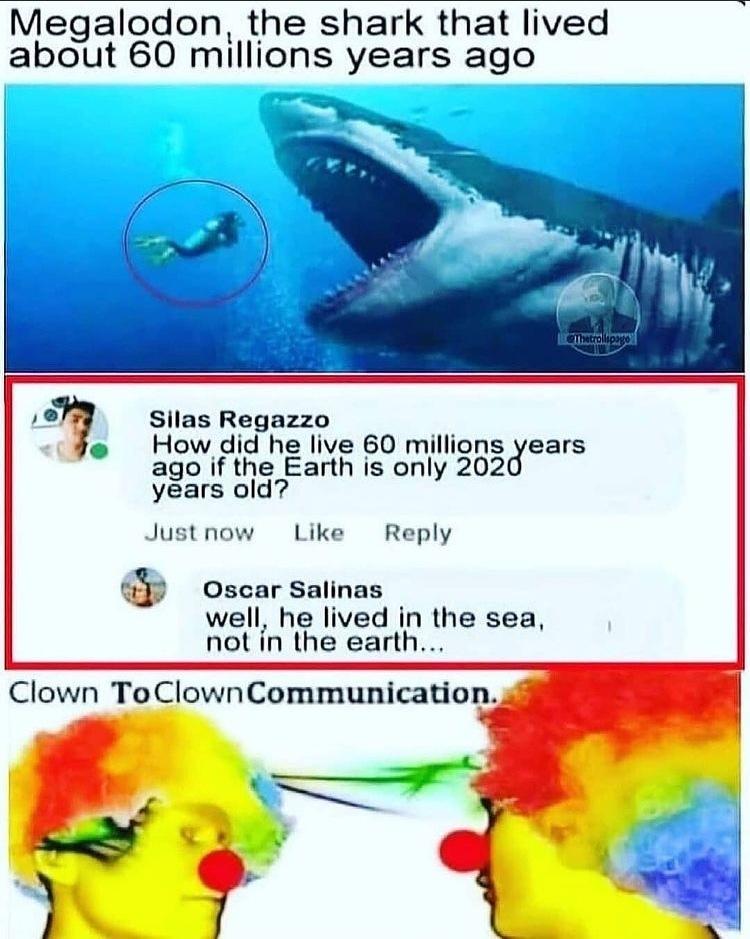 Clown to clown communication - meme